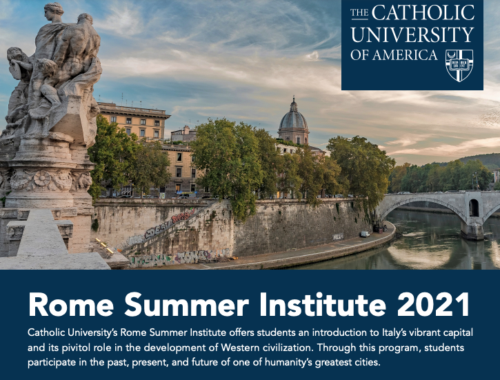 A Partial Snapshot of the Rome Summer Institute Flyer